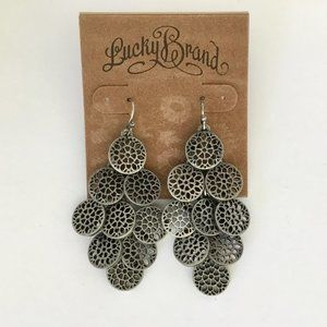 Lucky Brand antique silver tone earrings